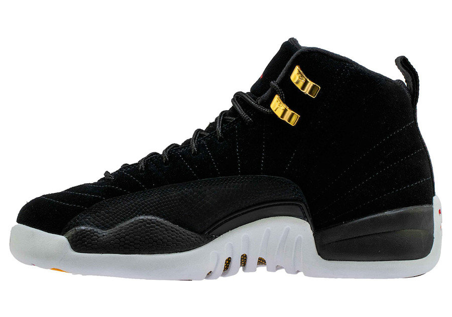 2019 Where To Buy Cheap Nike Air Jordan 12 Reverse Taxi Black White-Taxi-Black 130690-017