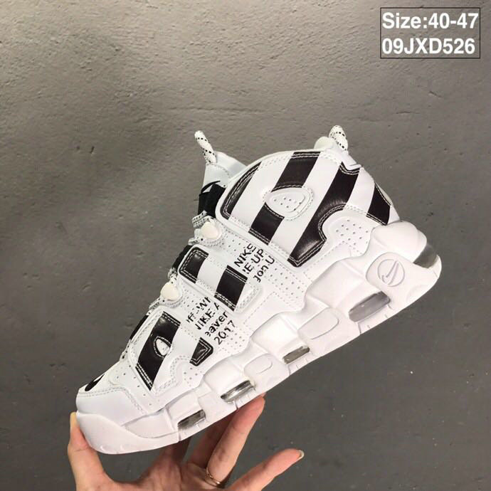 2019 Where To Buy Cheap Nike Air More Uptempo OFF-WHITE Black White