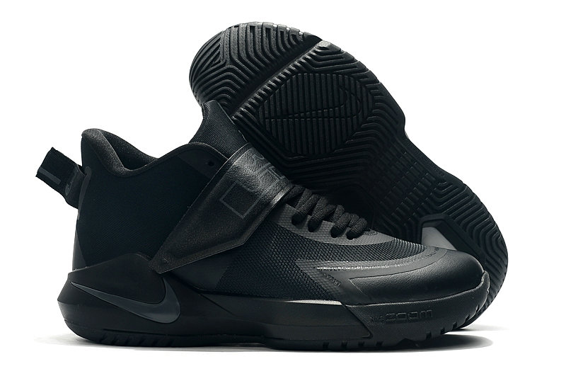 2019 Where To Buy Cheap Nike Lebron Soldier 12 Triple Black