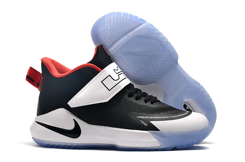 2019 Where To Buy Cheap Nike Lebron Soldier 12 White Black Navy Blue Red