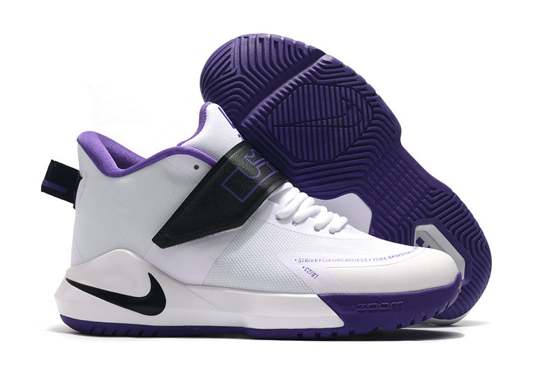 2019 Where To Buy Cheap Nike Lebron Soldier 12 White Purple Black