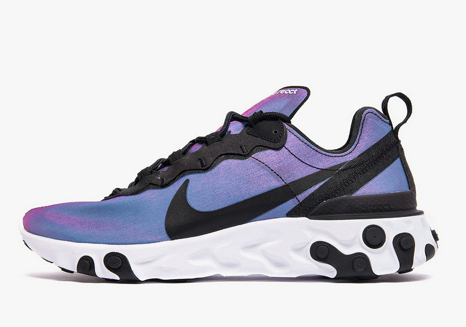 2019 Where To Buy Cheap Nike React Element 55 Black-Black-Laser Fuchsia-White BQ9241-002