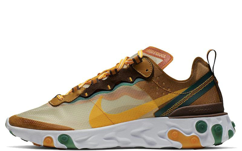 2019 Where To Buy Cheap Nike React Element 87 Pale Ivory Orange Peel CJ6897-113