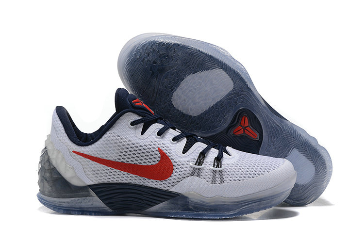 2019 Where To Buy Cheap Nike Zoom Kobe Venomenon 5 White Red Deep Royal Blue 815757 164