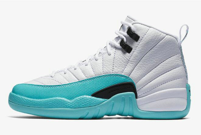 Where To Buy 2020 Air Jordan 12 GS Light Aqua White Light Aqua-Black 510815-100