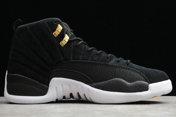 Where To Buy 2020 Air Jordan 12 Reverse Taxi Black White-Taxi 130690-017