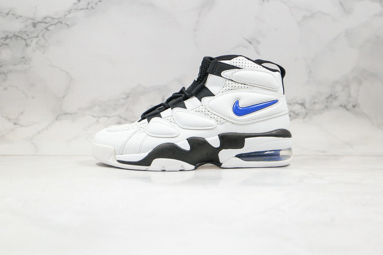 2020 Cheapest Nike Air Max Uptempo 2 White Royal Blue Black 472490-001