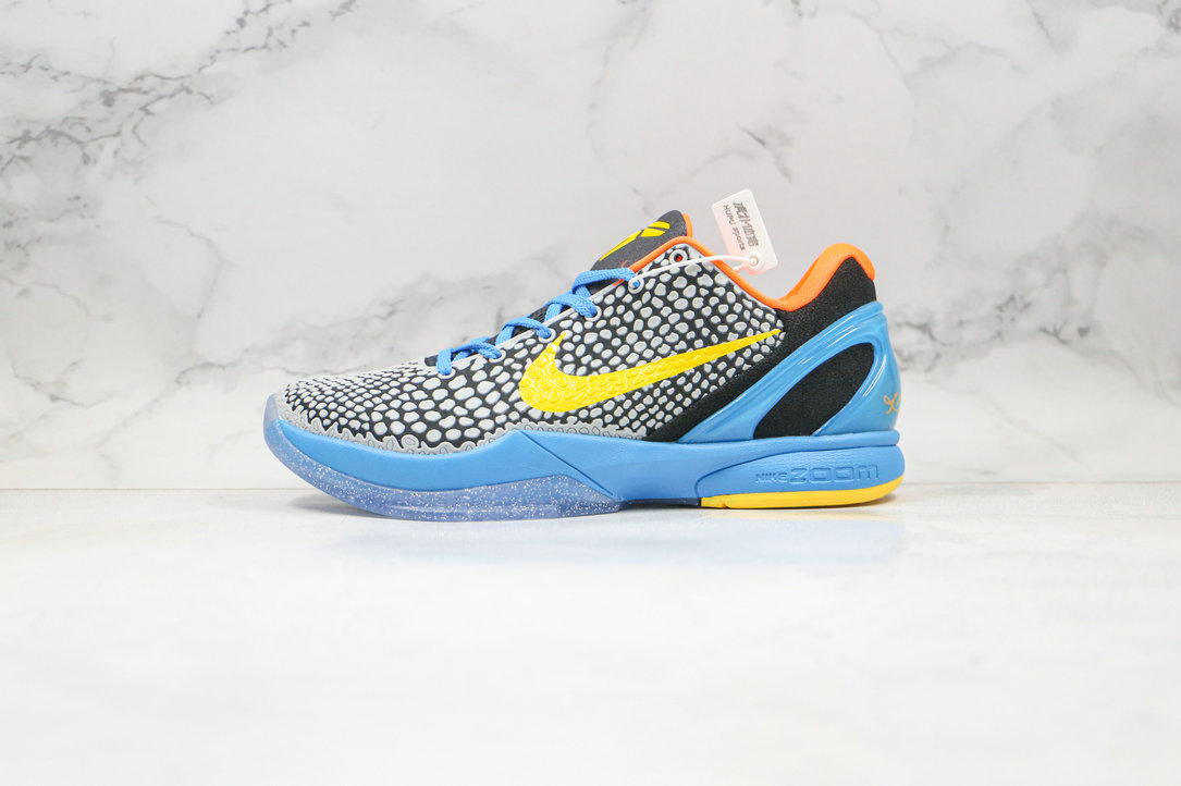 2020 Cheapest Nike Zoom Kobe VI 6 Dark Grey Vibrant Yellow Glass Blue Ttl 429659-005