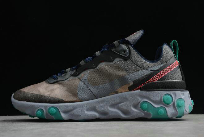 Where To Buy 2020 Nike Epic React Element 87 Black Neptune Green-Bright Mango-Midnight Navy AQ1090-005