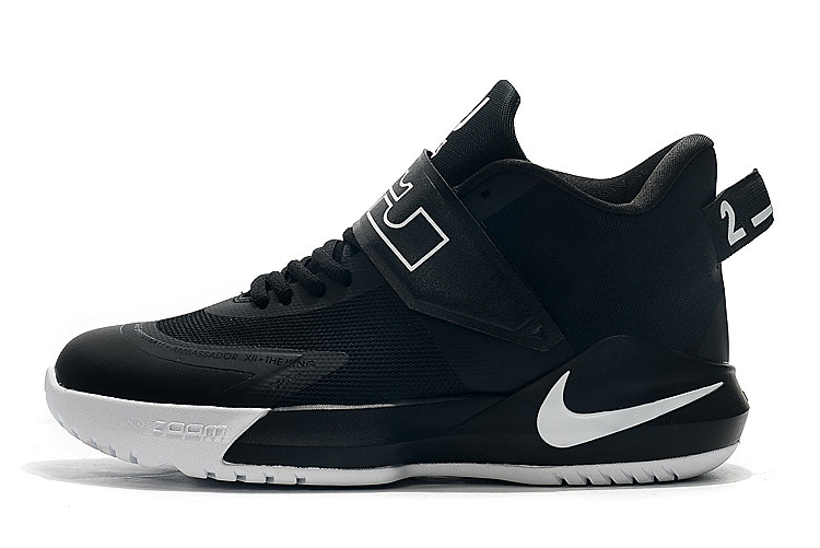 Where To Buy 2020 Nike LeBron Ambassador 12 Black White For Sale