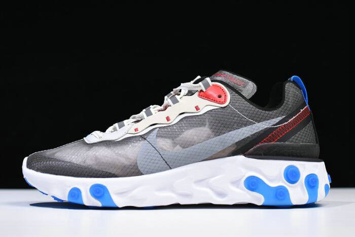 Where To Buy 2020 Nike React Element 87 Dark Grey Pure Platinum-Photo Blue AQ1090-003