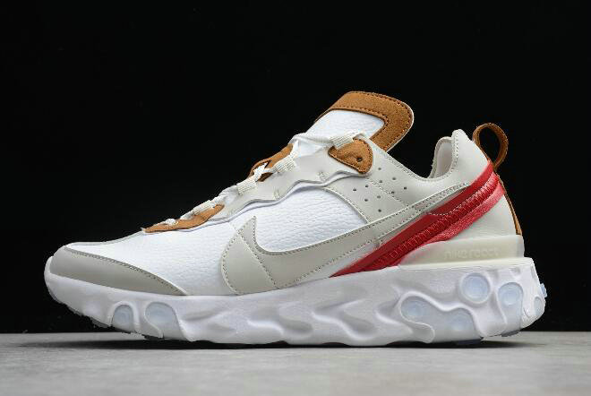 Where To Buy 2020 Nike React Element 87 Sail Light Bone-White AQ1090-101