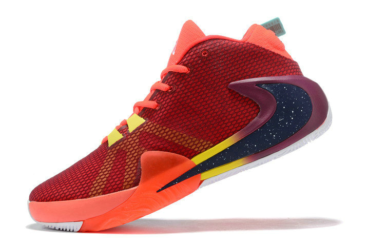 Where To Buy 2020 Nike Zoom Greek Freak 1 Red Navy Blue-Yellow For Sale
