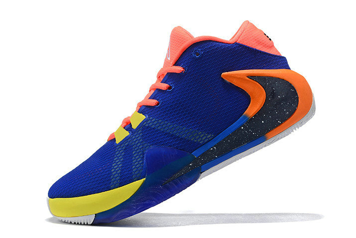 Where To Buy 2020 Nike Zoom Greek Freak 1 Royal Blue Red-Yellow-Orange For Sale
