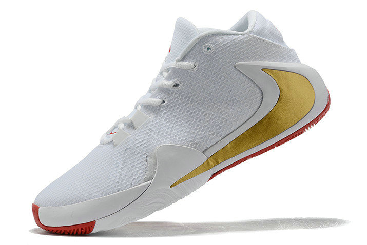 Where To Buy 2020 Nike Zoom Greek Freak 1 White Metallic Gold-Red For Sale