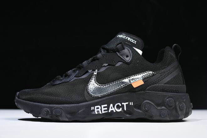 Where To Buy 2020 Off-White x Nike React Element 87 Black AQ0068-001 For Sale