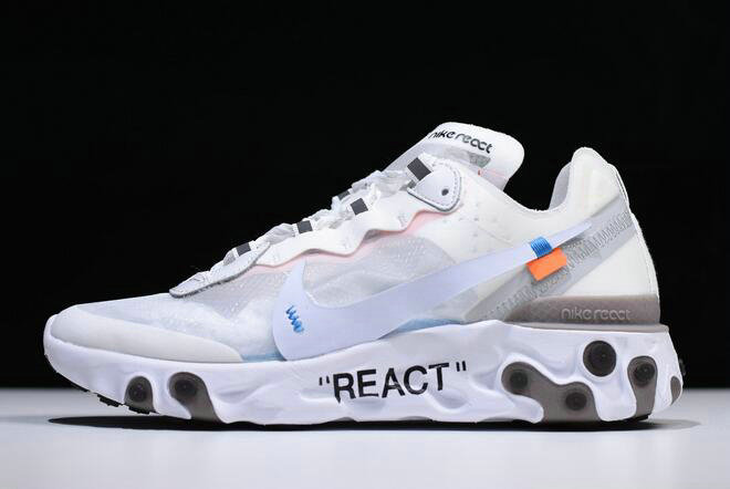 Where To Buy 2020 Off-White x Undercover x Nike React Element 87 White Cone-Ice Blue AQ0068-100