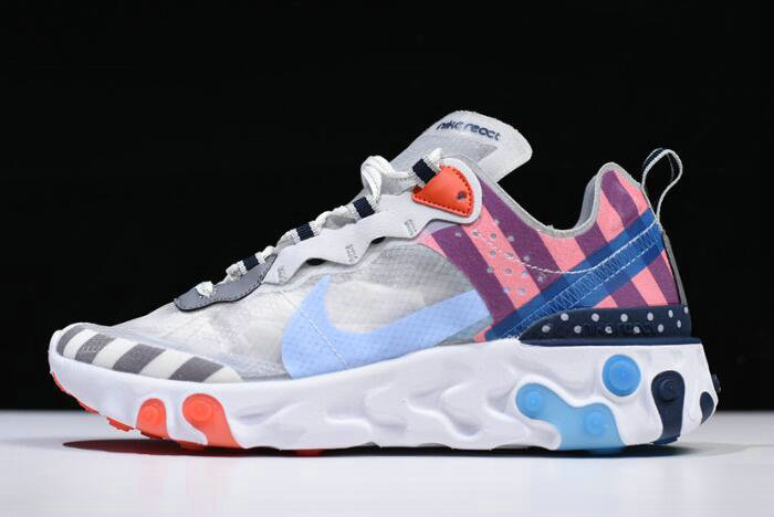 Where To Buy 2020 Parra x Nike React Element 87 White Multi-Color AQ3057-100