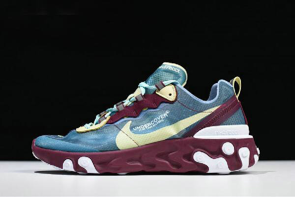 Where To Buy 2020 Undercover x Nike React Element 87 Blue Gold Purple White AQ1813-001 Free Shipping