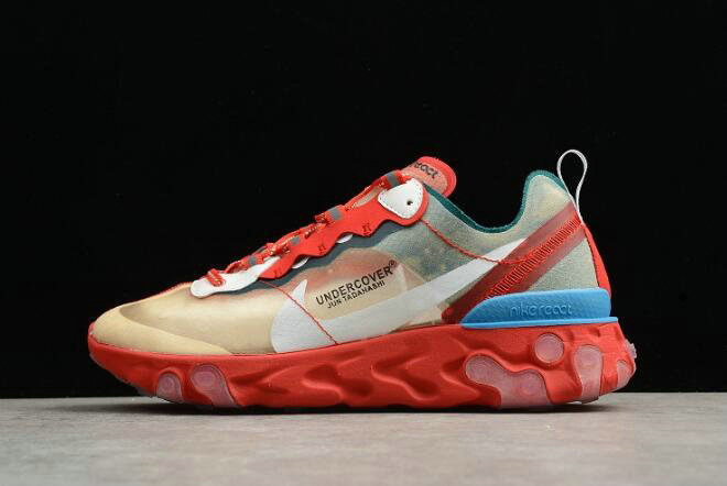 Where To Buy 2020 Undercover x Nike React Element 87 Red Light Green Sail Mens Size For Sale