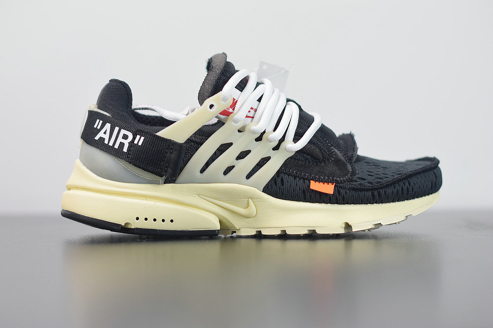 2020 Womens Cheap Nike Air Presto 2.0 x Off-White ow Black-Black Muslin Noir Mousseline AA3830-001