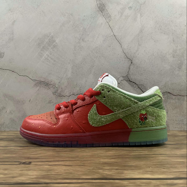 2021 Cheap Nike SB Dunk Low University Red Spinach Green Magic Ember Ole Rouge CW7903-601