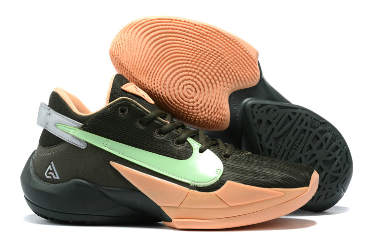 2021 Cheap Nike Zoom Freak 2 Black Gold Green