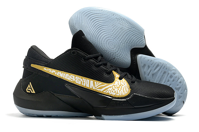 2021 Cheap Nike Zoom Freak 2 Gold Black