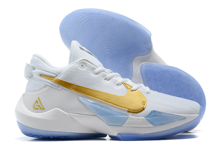 2021 Cheap Nike Zoom Freak 2 Gold White Blue