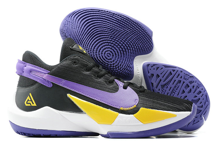 2021 Cheap Nike Zoom Freak 2 Laker Purple Black Gold
