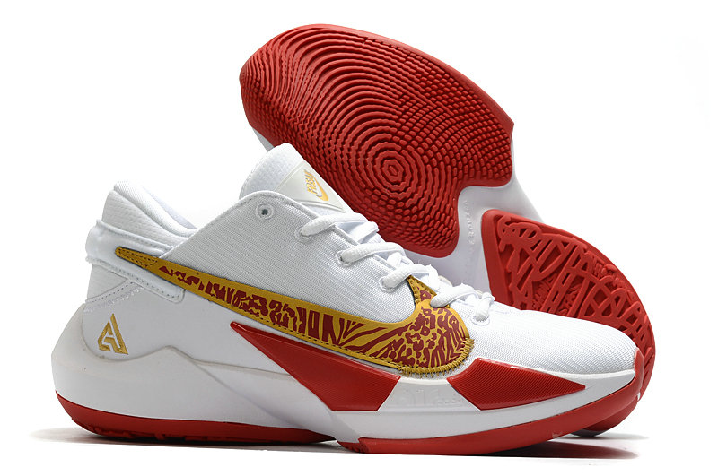 2021 Cheap Nike Zoom Freak 2 White Gold Red