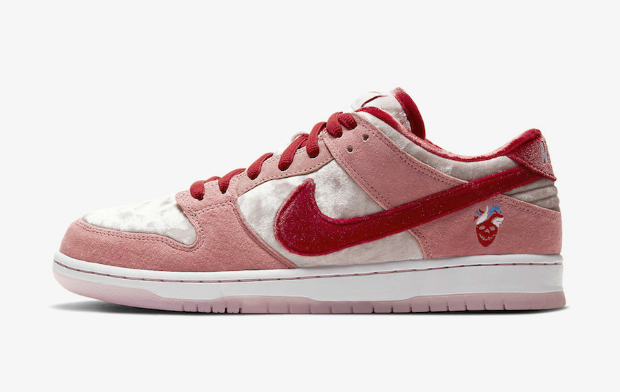 2021 Cheap StrangeLove x Nike SB Dunk Low Bright Melon Gym Red-Med Soft Pink CT2552-800