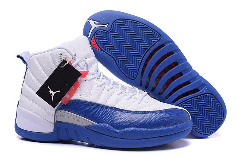 info for e37bf 28d6d Air Jordans 12 Retro French Blue White French Blue-Metallic Silver-Varsity  Red