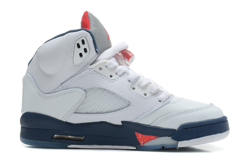 5939ec45e038 Air Jordans 5 Retro White Varsity Red-Obsidian For Sale - Cheap Nike ...