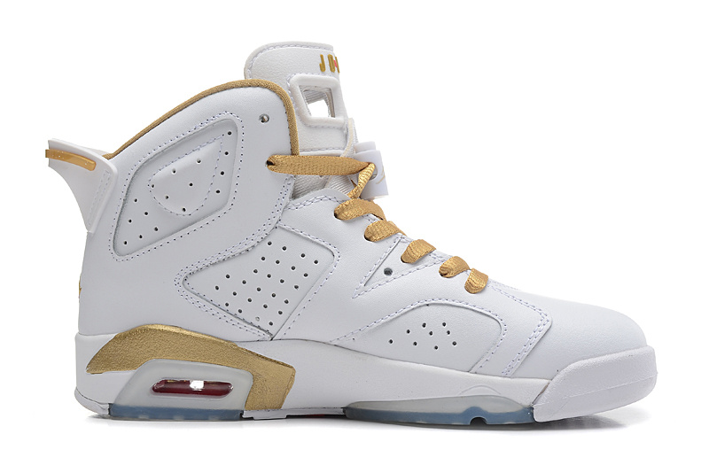 best sneakers ee4d2 31ab9 Air Jordans 6 Retro Gold Medal White Gym Red-Metallic Gold-Sail For Sale