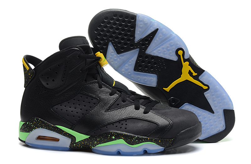 Air Jordans 6 Retro World Cup Black Light Lucid Green-Tour Yellow For Sale