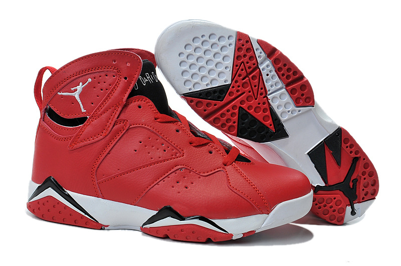 Air Jordans 7 Red Black White Shoes For Sale