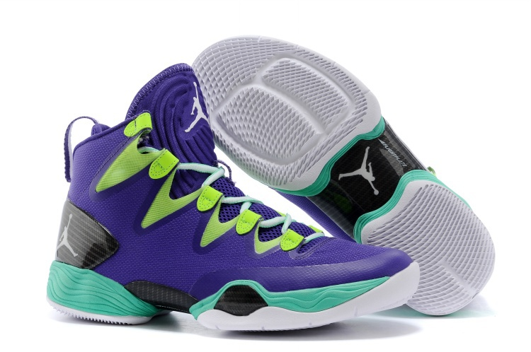 Air Jordans XX8 SE Mardi Gras Russell Westbrook PE Court Purple Black-Flash Lime