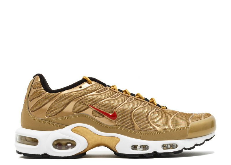 Air Maxs Cheap Nike Air Max TN Plus QS Metallic Gold University Red