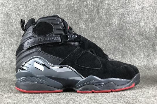 Cheap Air Jordan 8 Cement Black Gym Red-Black-Wolf Grey For Sale