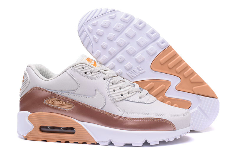New 2018 Air Max Cheap x Nike Air Max 90 Mens Luxury gold