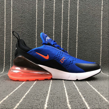 newest 968dd f3fa6 Cheap NIKE AIR MAX 270 AH8050-401 Royal Blue Orange White Black
