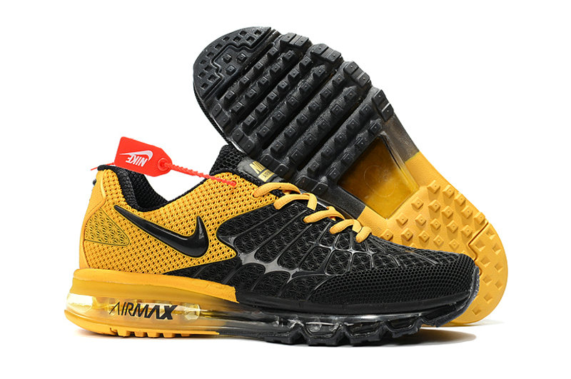 Cheap Newest Nike Air Max 2017 Mens Yellow Black Cheap