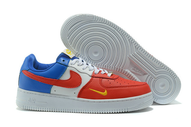 official photos 7b292 ab441 Cheap Nike AF1 Mens Nike Air Force One Blue Red White Yellow