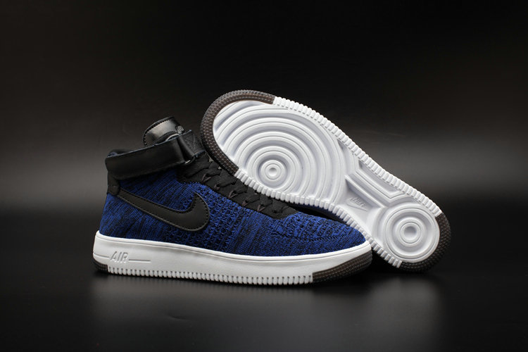 the latest c9a4c 0994e New 2018 Nike AF1 Cheap x Nike Air Force One Ultra Flyknit Mid Obsidian