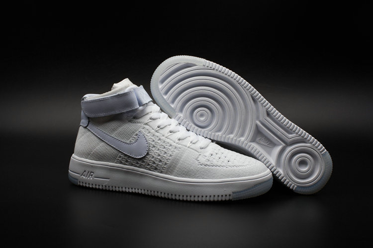 the latest bb761 2134f New 2018 Nike AF1 Cheap x Nike Air Force One Ultra Flyknit Mid White