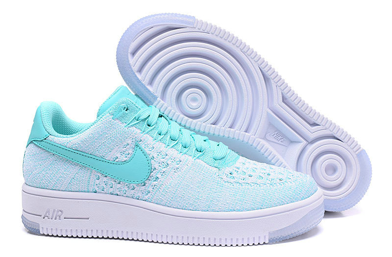 Nike Air Force 1 Flyknit verde