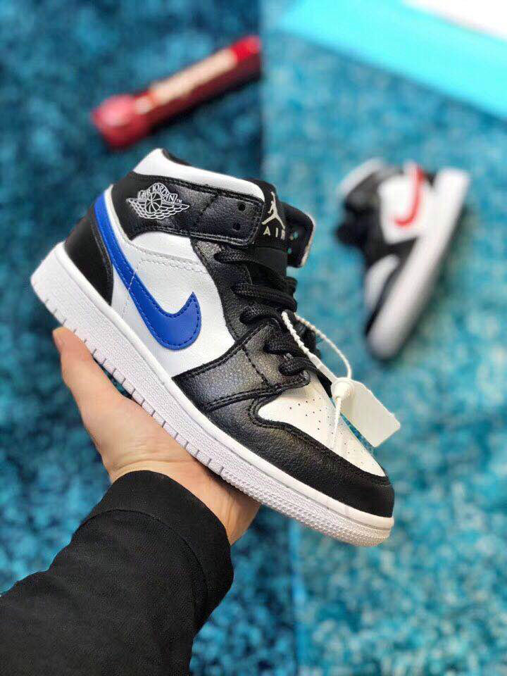 Cheap Nike Air Jordan 1 OG Top 3 555088-026 Blue Red Black White