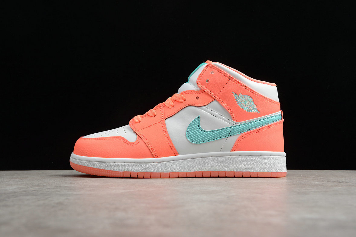 Cheap Nike Air Jordan 1 Rero High OG 555112-814 Womens Apple Green Orange White