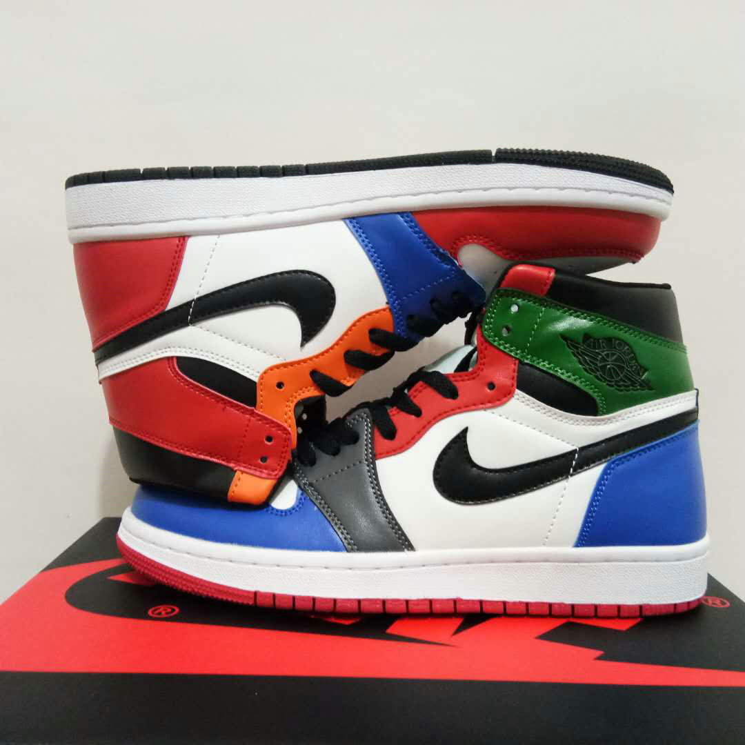 Cheap Nike Air Jordan 1 Rero High OG Womens Red Black Blue Orange White
